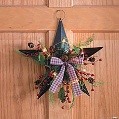 Lighted Christmas Barn Star