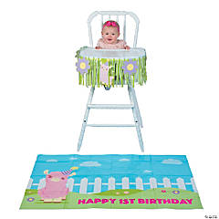 Lil' Llama 1st Birthday High Chair Decorating Kit