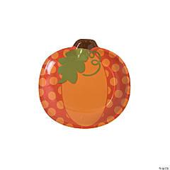 Lil' Pumpkin Paper Dessert Plates