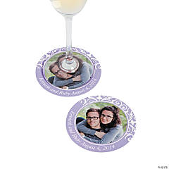 Lilac Custom Photo Coasters