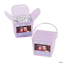 Lilac Custom Photo Take Out Boxes