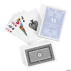 Lilac Roman Monogram Playing Cards
