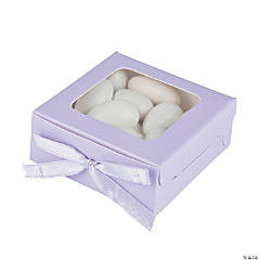 Lilac Shadow Favor Boxes