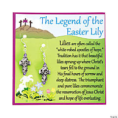 Lily Cross Easter Earrings with Card Craft Kit