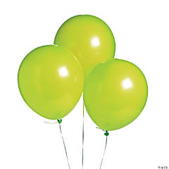 "Lime Green 11"" Latex Balloons"
