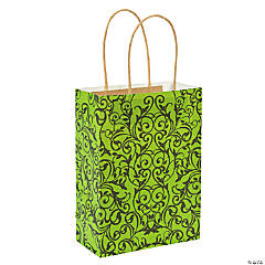 Lime Green & Black Craft Bags