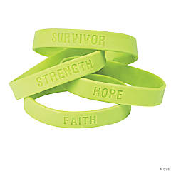 Lime Green Awareness Sayings Bracelets