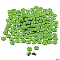Lime Green Candy-Coated Chocolates