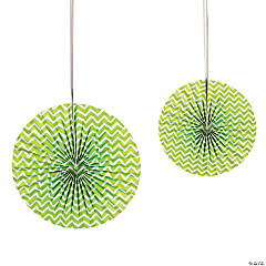 Lime Green Chevron Hanging Fans