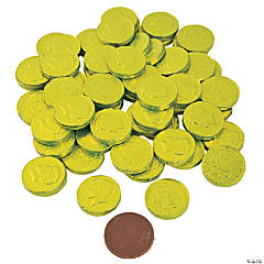 Lime Green Chocolate Coins