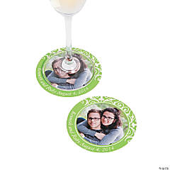 Lime Green Custom Photo Coasters