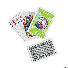 Lime Green Custom Photo Playing Cards