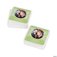 Lime Green Custom Photo Square Containers