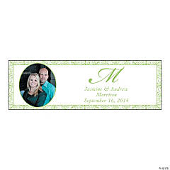 Lime Green Flourish Medium Custom Photo Banner