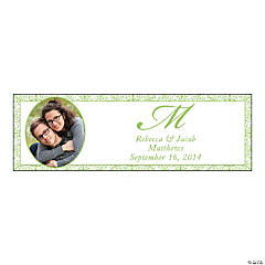Lime Green Flourish Small Custom Photo Banner