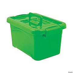 Lime Green Large Locking Storage Bins with Lids