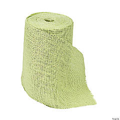 Lime Green Natural Burlap