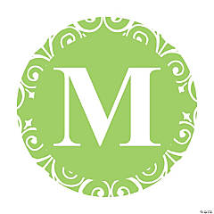 Lime Green Personalized Monogram Wedding Favor Stickers