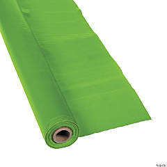 Lime Green Plastic Tablecloth Roll