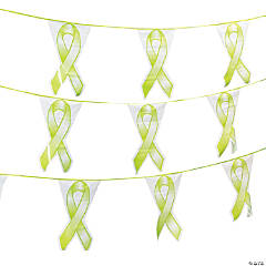 Lime Green Ribbon Plastic Pennant Banner