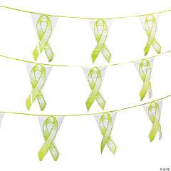 Lime Green Ribbon Plastic Pennant Banner