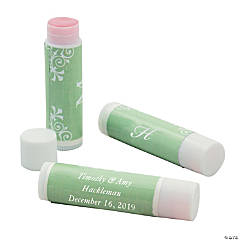 Lime Green Script Monogram Lip Covers