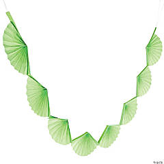 Lime Green Semi Fanburst Garland