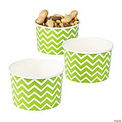 Lime Green Snack Paper Bowls