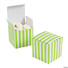 Lime Green Striped Gift Boxes