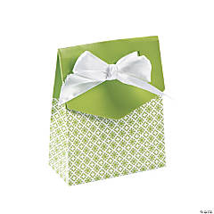 Lime Green Tent Favor Boxes With Bow