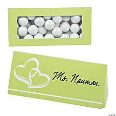 Lime Green Wedding Place Card Favor Boxes