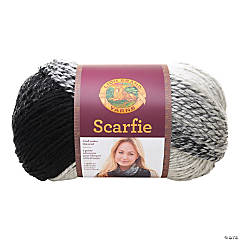Lion Brand Scarfie Yarn-Cream/Black
