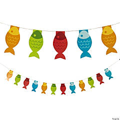 Litter Fisherman Fish Pennant Banner