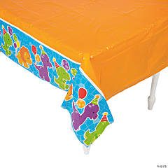 Little Dino Plastic Tablecloth