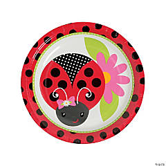 Little Ladybug Paper Dessert Plates