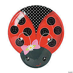 Little Ladybug Paper Dinner Plates