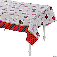 Little Ladybug Plastic Tablecloth