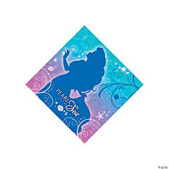 Little Mermaid Sparkle Beverage Napkins