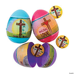 Live for Him Mini Button-Filled Plastic Easter Eggs