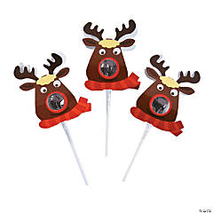 Lollipops with Reindeer Covers