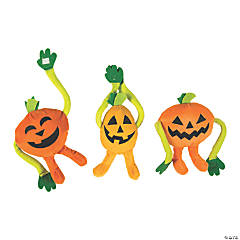 Long Arm Plush Jack-O'-Lanterns