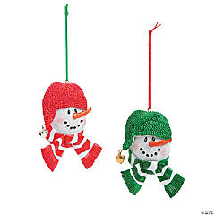 Long Nose Snowman Christmas Ornaments