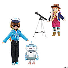 Lottie Girl Scientist Dolls Set of 2