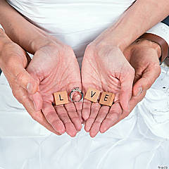 Love Alphabet Tile Engagement Photo Idea