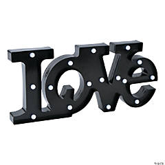 Love Black Marquee Sign