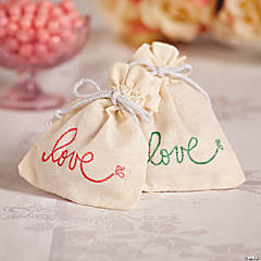Love Canvas Treat Bag Idea