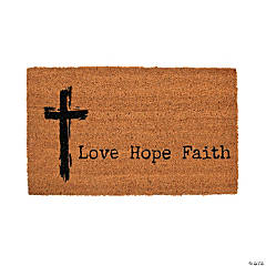Love, Hope, Faith Door Mat