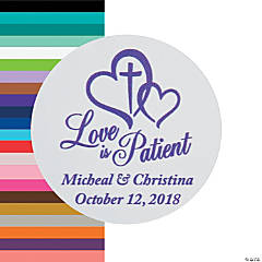 Love is Patient Wedding Personalized Stickers
