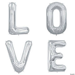 """Love"" Mylar Letter Balloon Set"