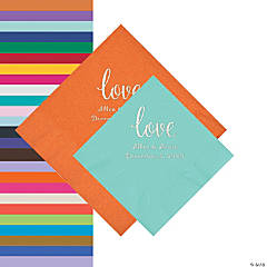 Love Script Personalized Napkins - Beverage or Luncheon